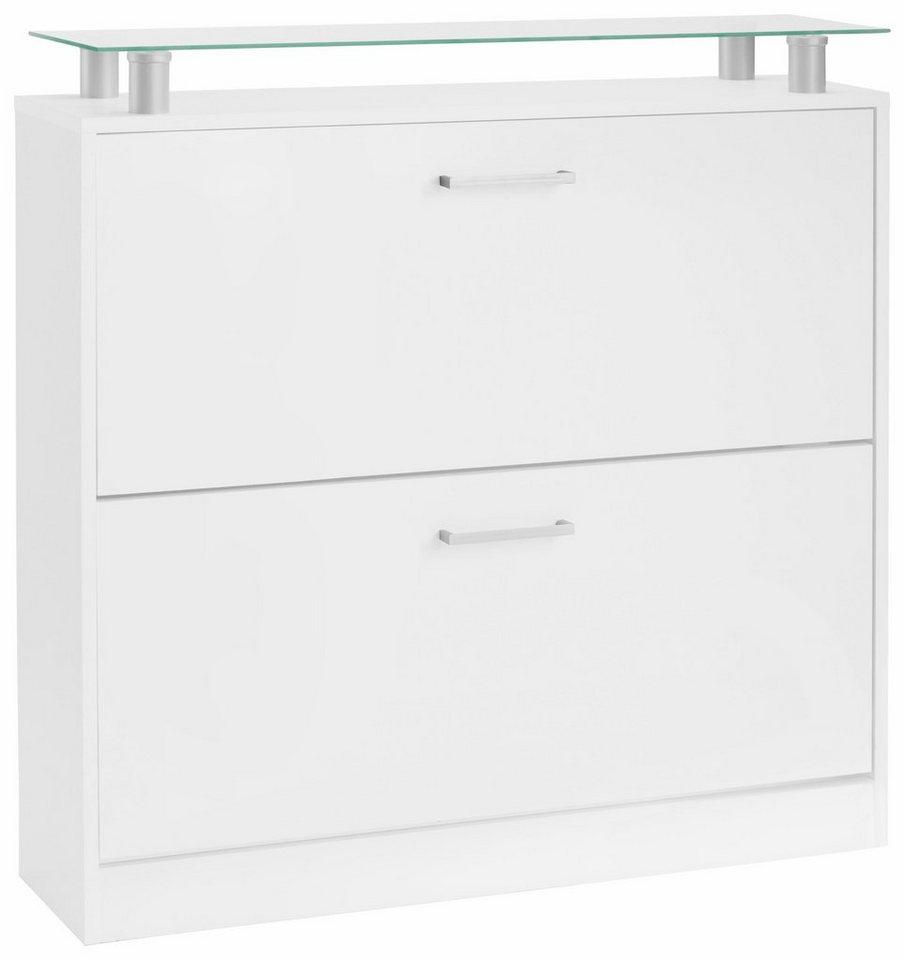 borchardt m bel schuhschrank finn breite 89 cm mit glasablage online kaufen otto. Black Bedroom Furniture Sets. Home Design Ideas