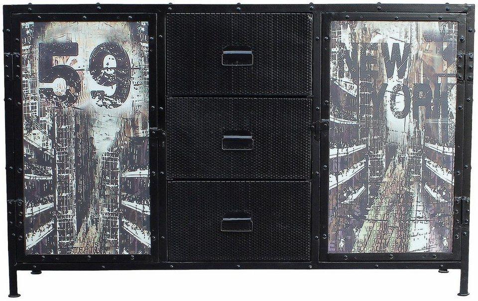 sideboard steel breite 140 cm online kaufen otto. Black Bedroom Furniture Sets. Home Design Ideas