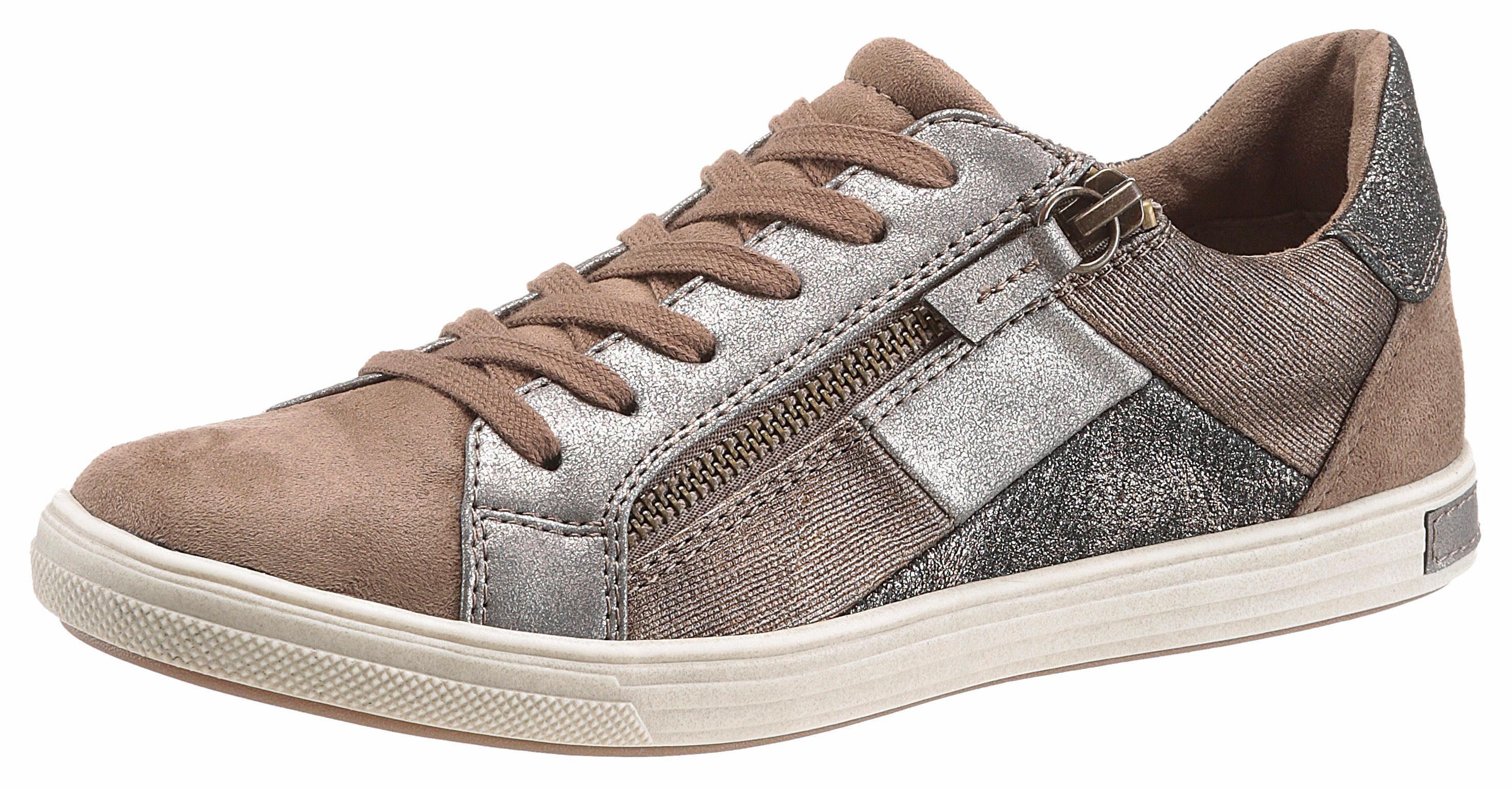 Arizona Sneaker, im Patchwork-Look, braun, 36 36