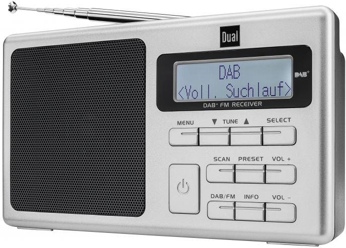 dual dab 70 portables dab ukw radio mit akku radio. Black Bedroom Furniture Sets. Home Design Ideas