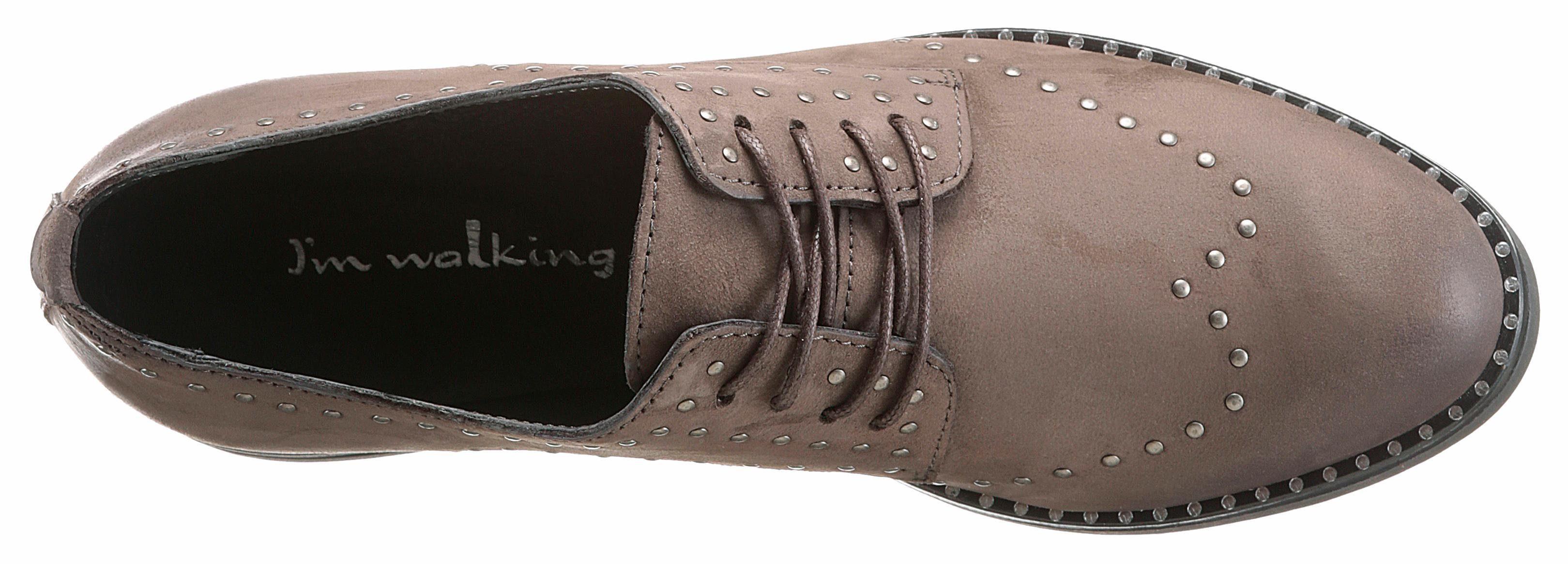 I'm walking Schnürschuh, mit Nieten online kaufen  taupe