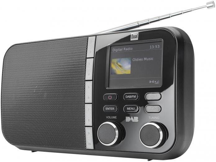 Dual DAB 4 C Portables DAB+ / UKW Radio mit TFT-Farbdisplay Radio Digitalradio (DAB+)