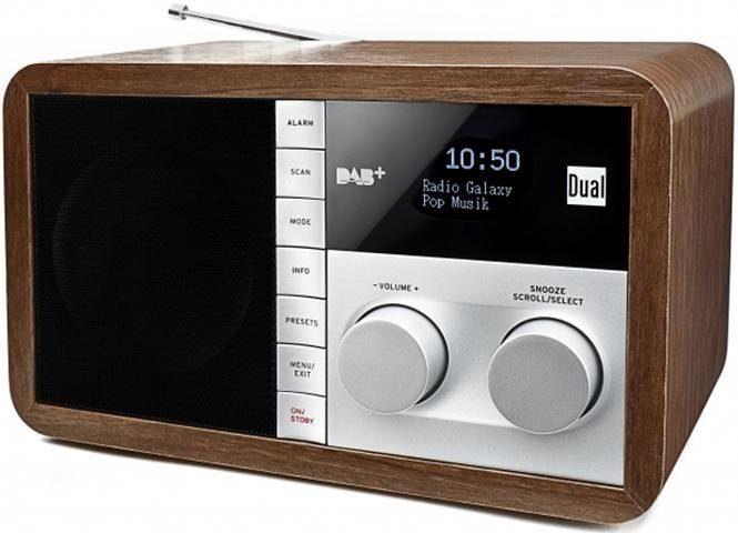 Dual DAB32 Digitalradio (DAB+) mit AUX-Audio-Eingang, UKW-Tuner, Alarmfunktion und Kopfhöreranschluss Radiowecker Digitalradio (DAB+)