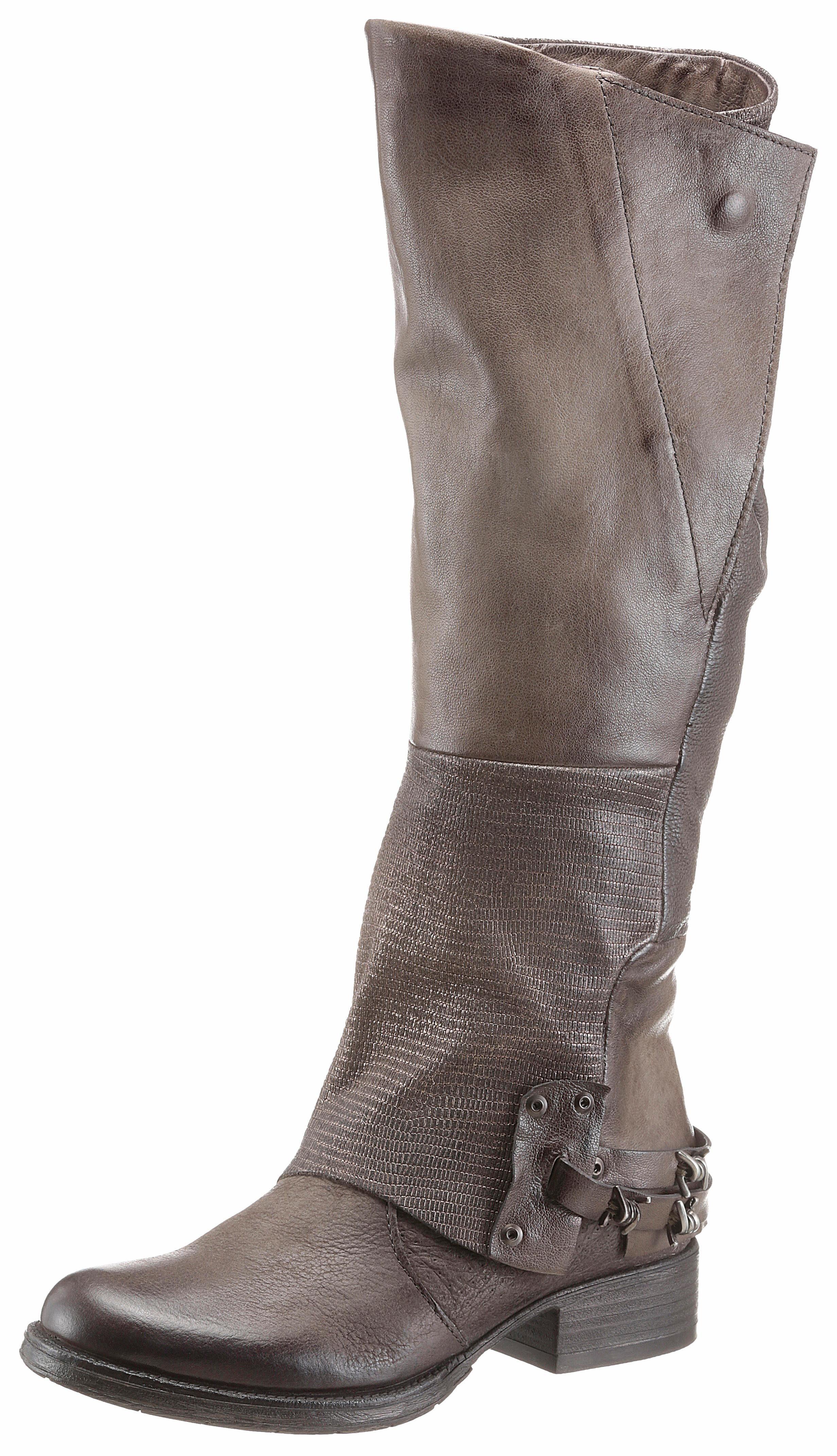 Arizona Stiefel, in Patchwork-Optik online kaufen  taupe