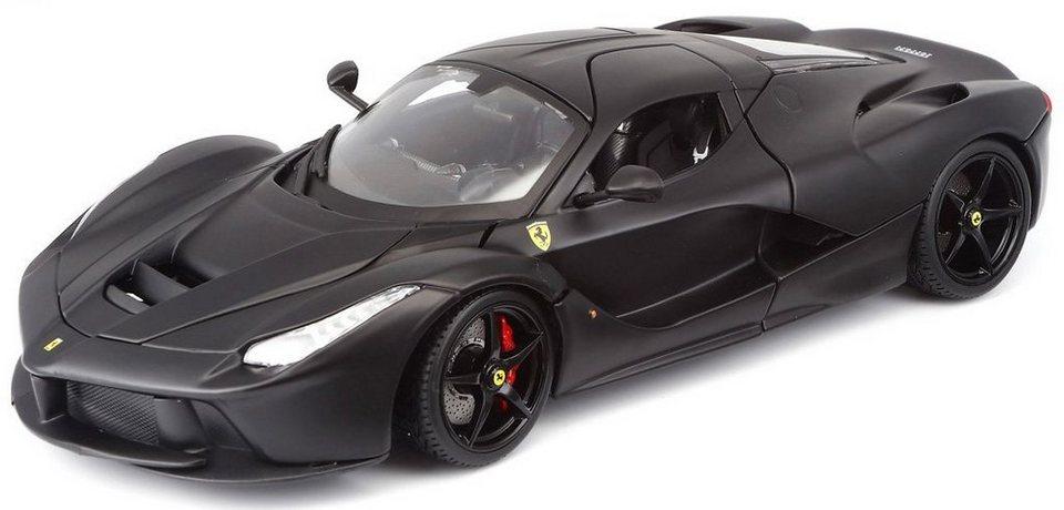 Bburago® Sammlerfahrzeug Modellauto im Maßstab 1:18, »Ferrari LaFerrari, schwarz« in schwarz