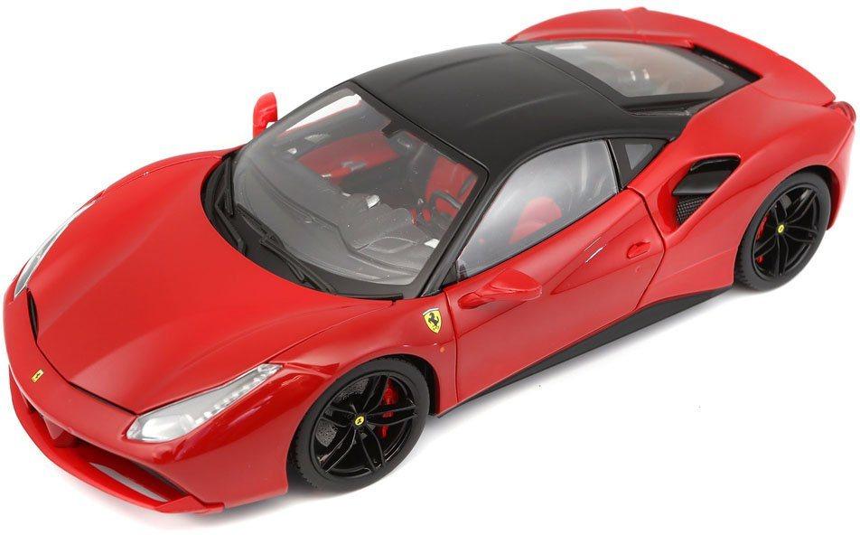 Bburago® Sammlerfahrzeug Modellauto im Maßstab 1:18, »Ferrari 488 GTB, rot« in rot