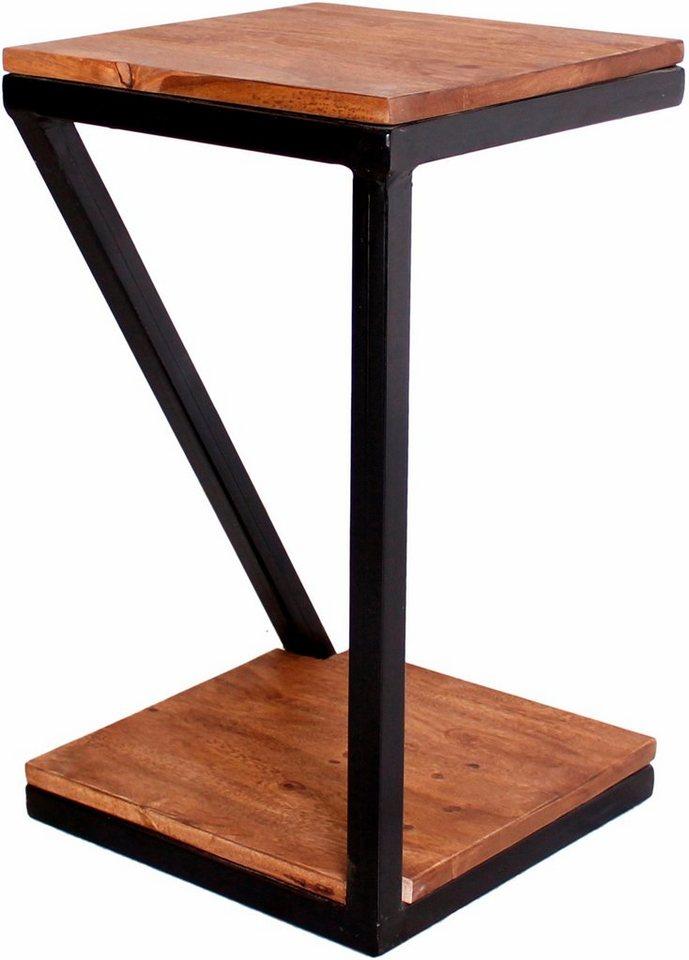 Sit beistelltisch panama aus metall massivholz otto for Beistelltisch aus metall
