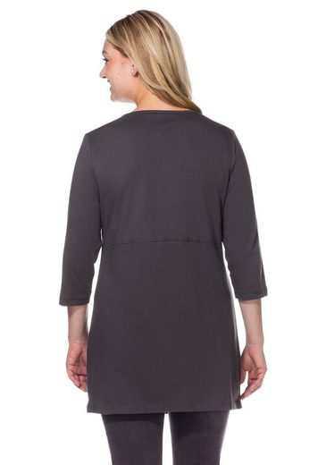 sheego Casual Longshirt, in leichter A-Linie
