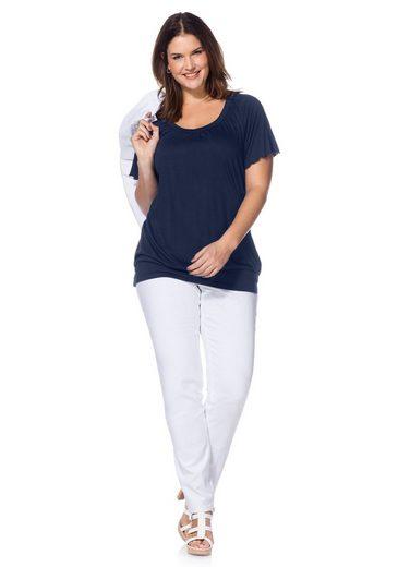 sheego Casual T-Shirt, mit Raglan-Flügelärmeln