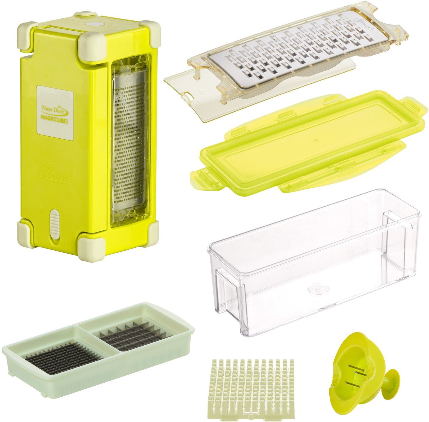 Genius Nicer Dicer Magic Cube Gourmet, 9-teilig, 350 ml
