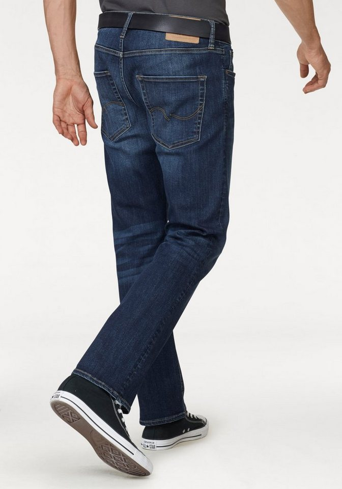 Jack & Jones Regular-fit-Jeans »Clark« in blue-used