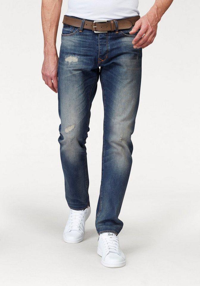 Superdry Destroyed-Jeans »BIKER TAPERED JEAN Dirty Repair« in dirty-used