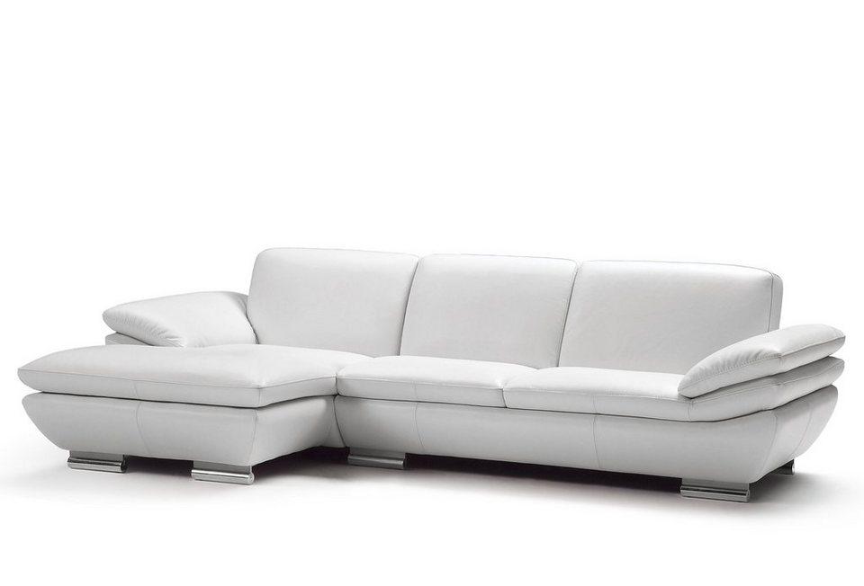 CALIA ITALIA Polsterecke in schöner Lederqualität in weiß