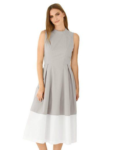 Alba Moda Kleid mit kleinem Stehkragen