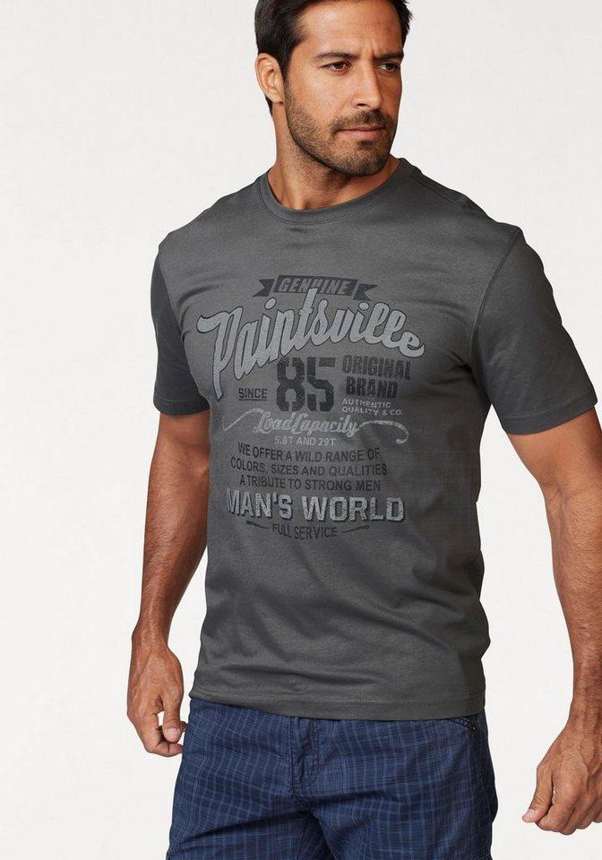 man 39 s world t shirt mit print trageangenehm dank. Black Bedroom Furniture Sets. Home Design Ideas