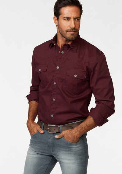 Arizona Langarmhemd im Western-Stil