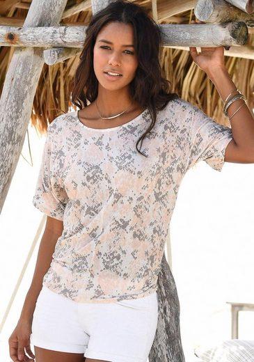 LASCANA Shirts (2 Stück) mit seitlicher Raffung am Saum