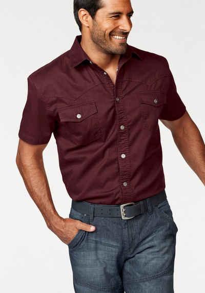 Arizona Jeanshemd Hemden Herren Langarm Freizeithemden
