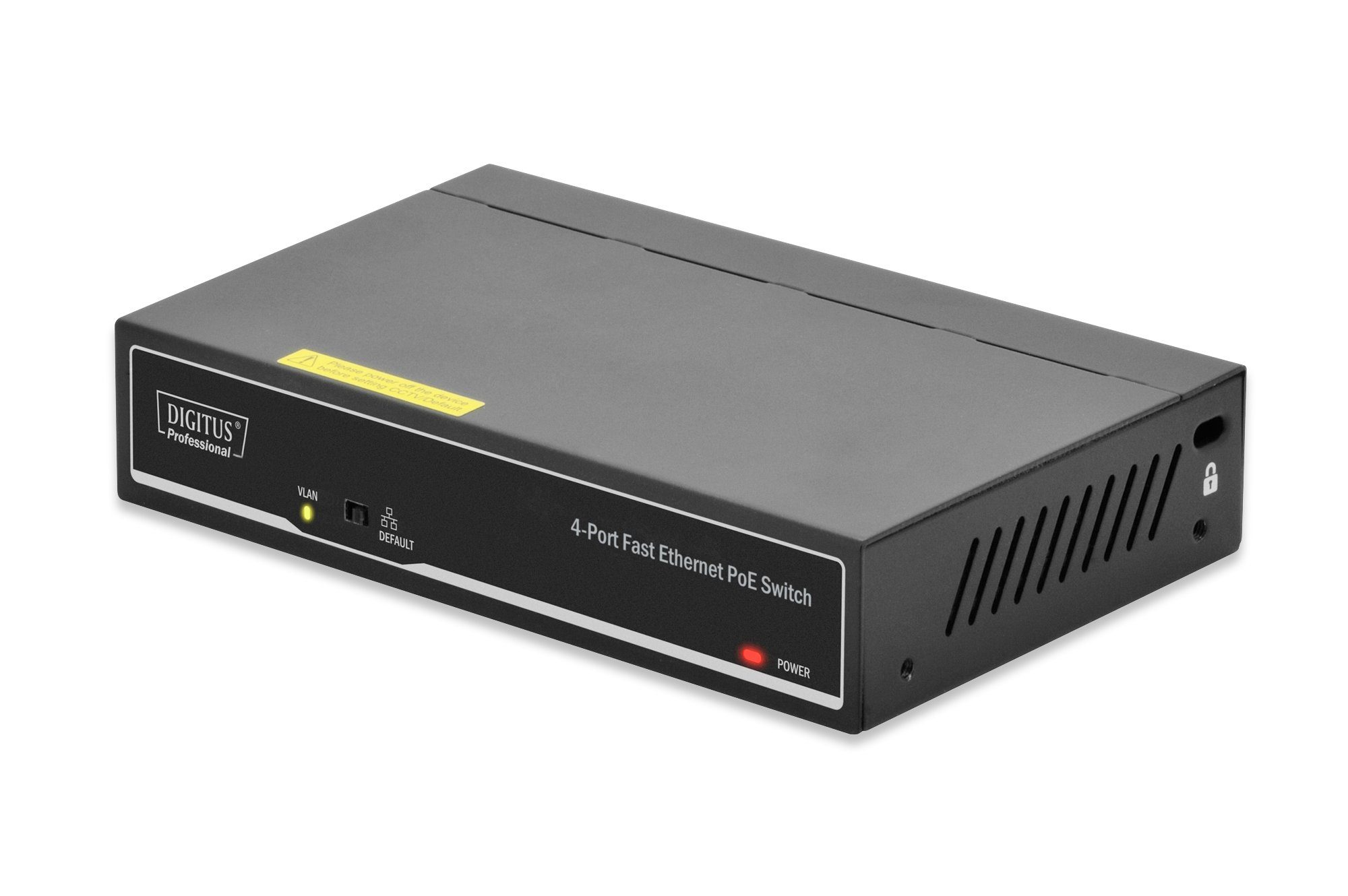 Digitus Switch Hardware »4Port Fast Ethernet PoE Switch«