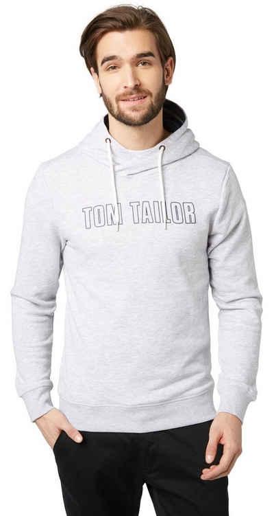 TOM TAILOR Sweatshirt »Hoodie mit Schrift-Print« Sale Angebote Lutzketal
