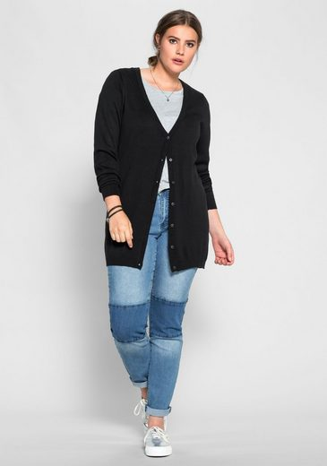 sheego Casual Longstrickjacke, ;