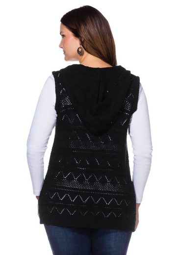 Sheego Style Strickweste, Häkeloptik