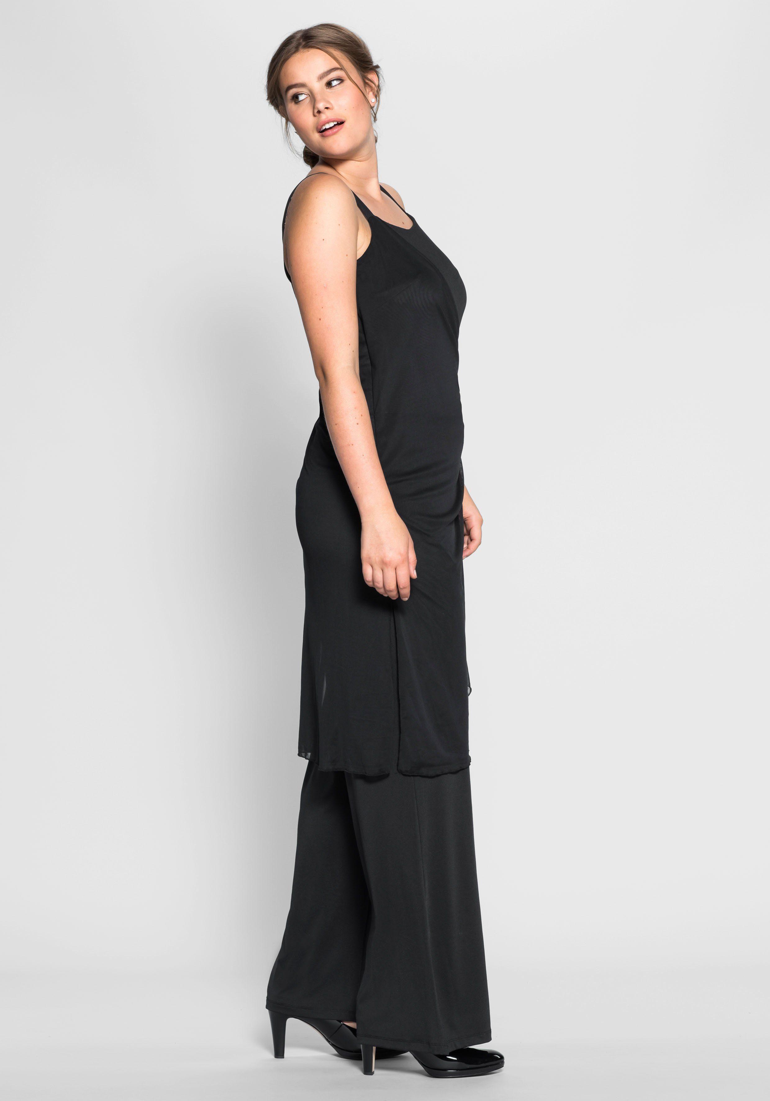 Sheego Jumpsuit Zweilagiger Style, Im Raffinierten Zweilagenlook Online Kaufen