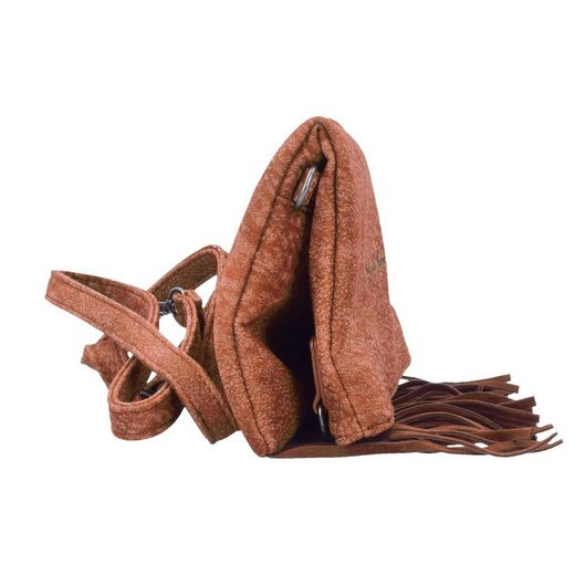 Fritzi aus Preußen Ronja Fringe Kuba Clutch Tasche 29 cm