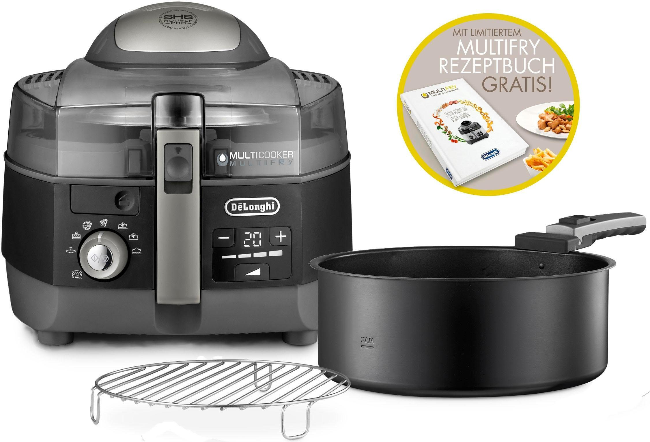 De'Longhi Heissluftfritteuse MultiFry EXTRA CHEF FH1396/1, 1400 W