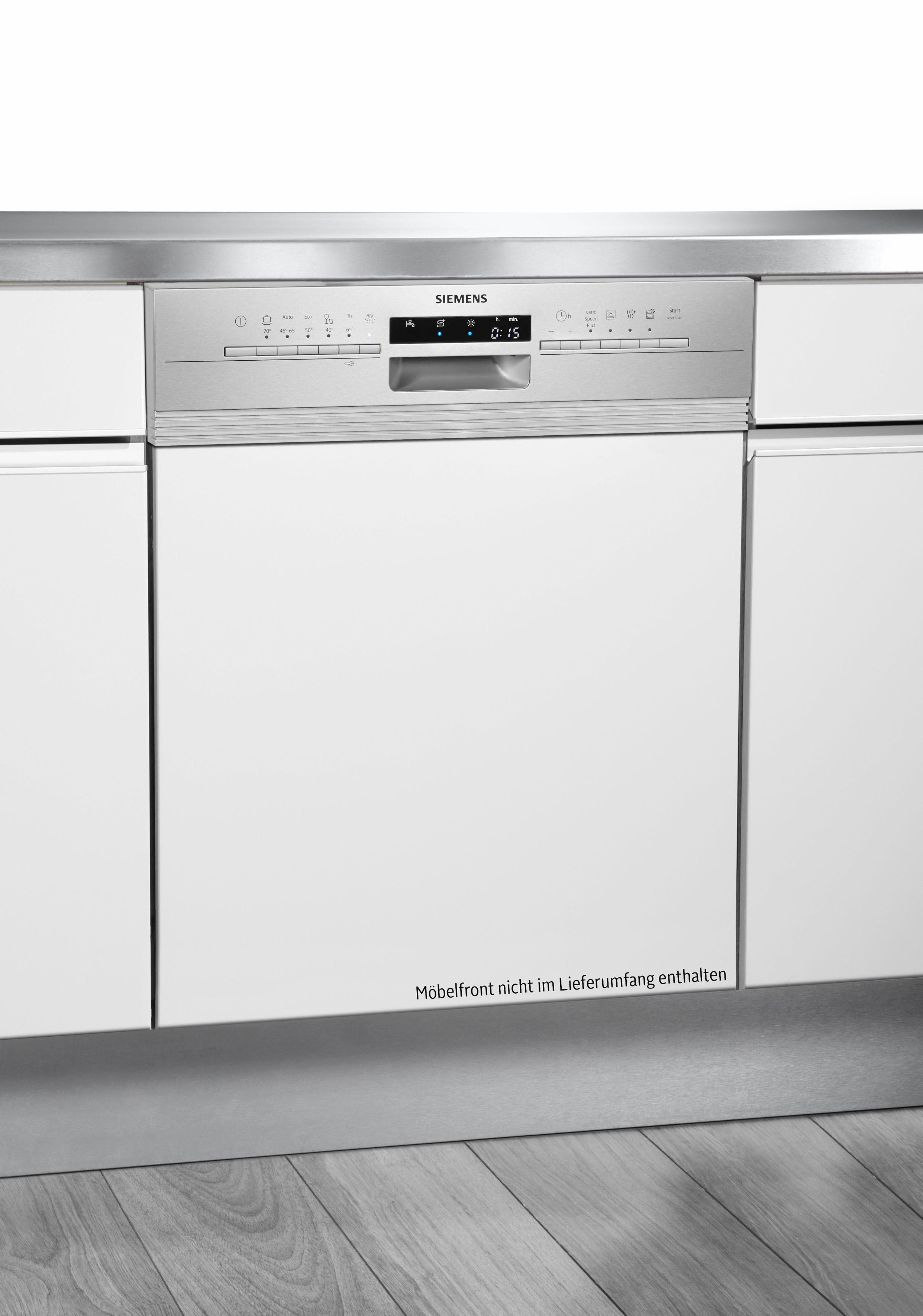 SIEMENS Teilintegrierbarer Geschirrspüler iQ300 SX536S03ME, A++, 9,5 Liter, 14 Maßgedecke