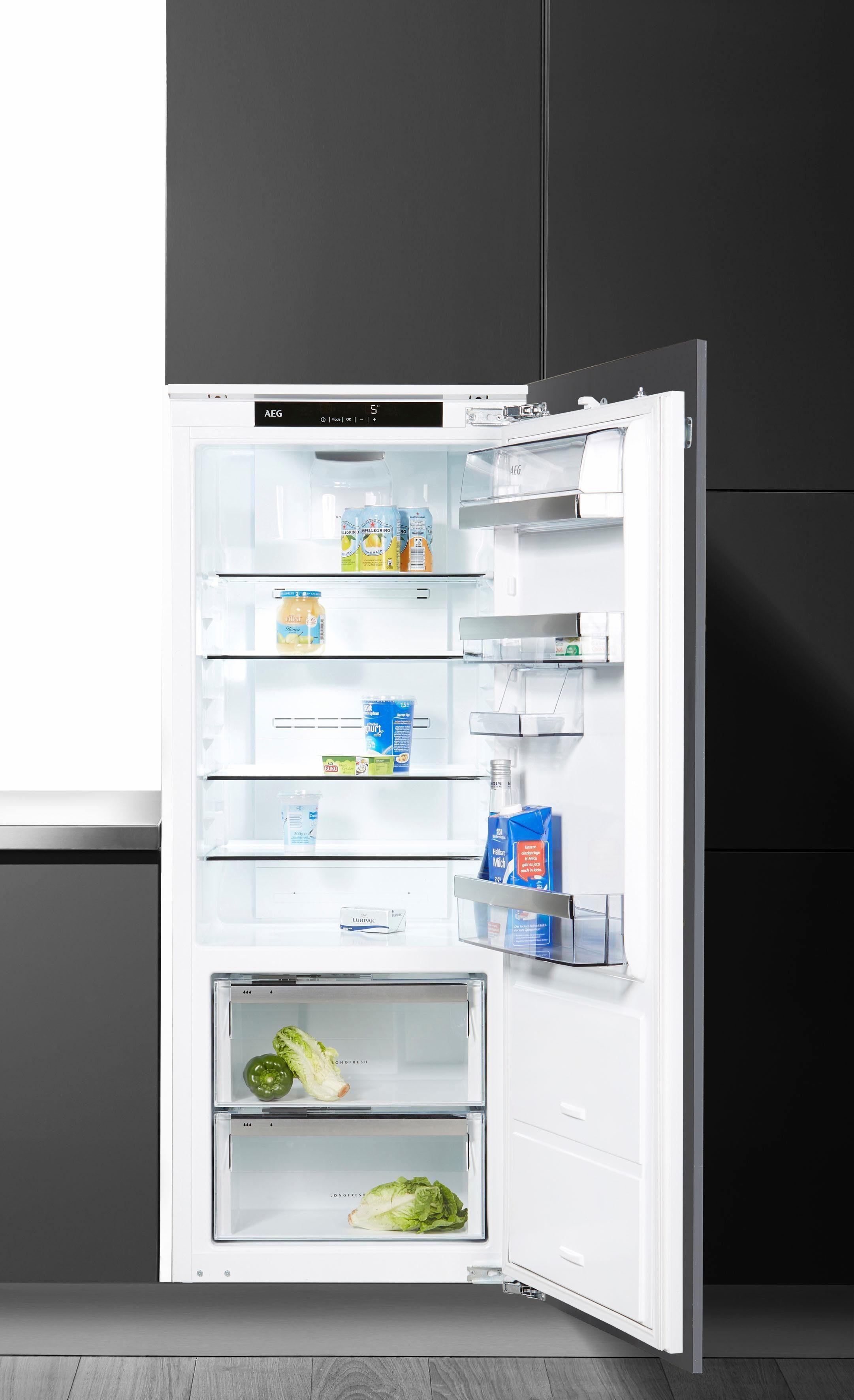 AEG integrierbarer Einbau-Kühlschrank SANTO SKE81426ZC, A++, 140 cm hoch