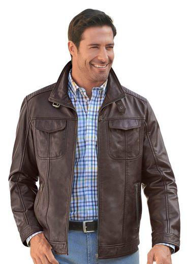 Mainpol Leder-Jacke mit viel Stauraum