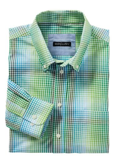 Maxclusiv Langarm-Hemd aus reiner Baumwolle