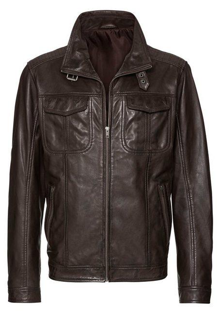 marco donati -  Leder-Jacke mit viel Stauraum