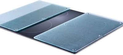 Zeller Present Schneide- und Abdeckplatte »Glas«, ESG-Sicherheitsglas, (Set, 2 tlg), Mit 6 rutschfesten Elastikfüßen pro Platte