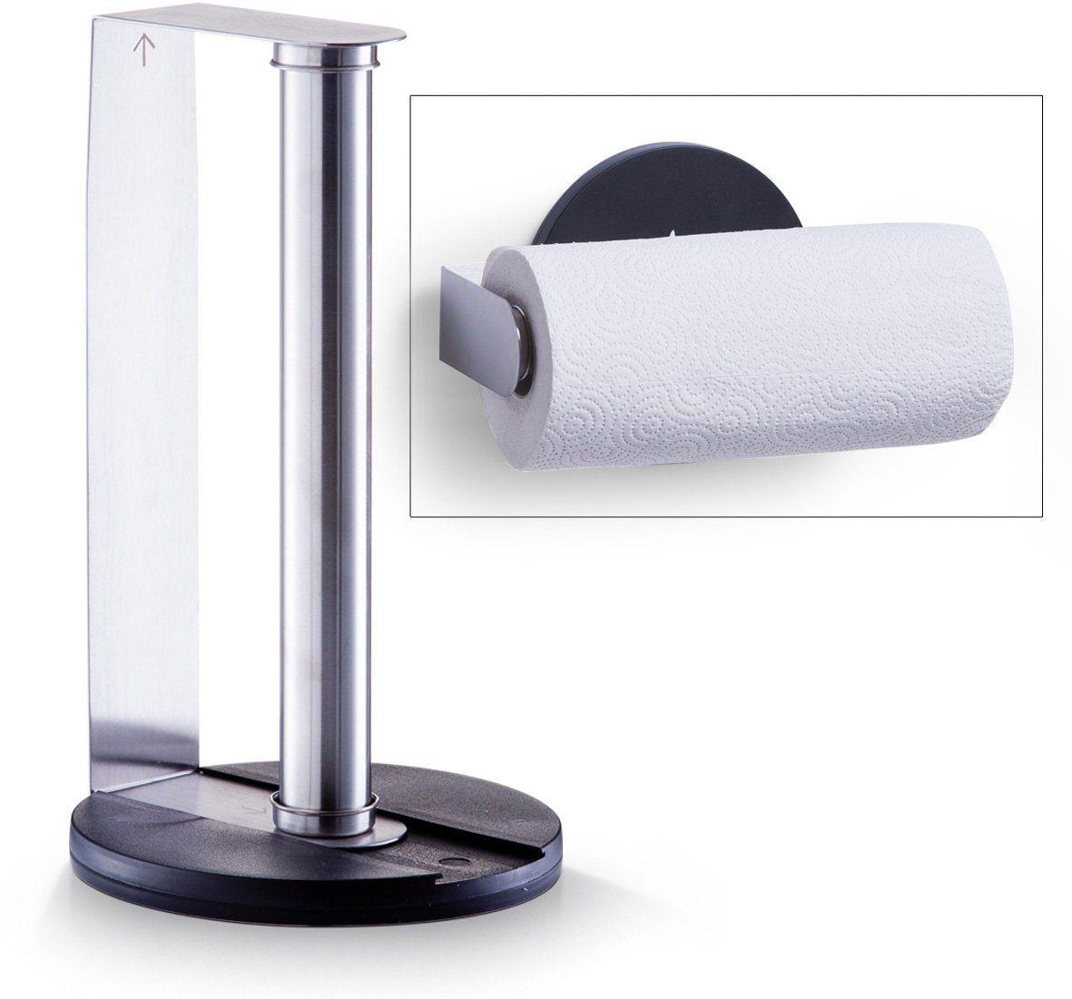 Wenko CUPCAKE Magnetischer Küchenrollenhalter mit Folienspender  Edelstahl Glas