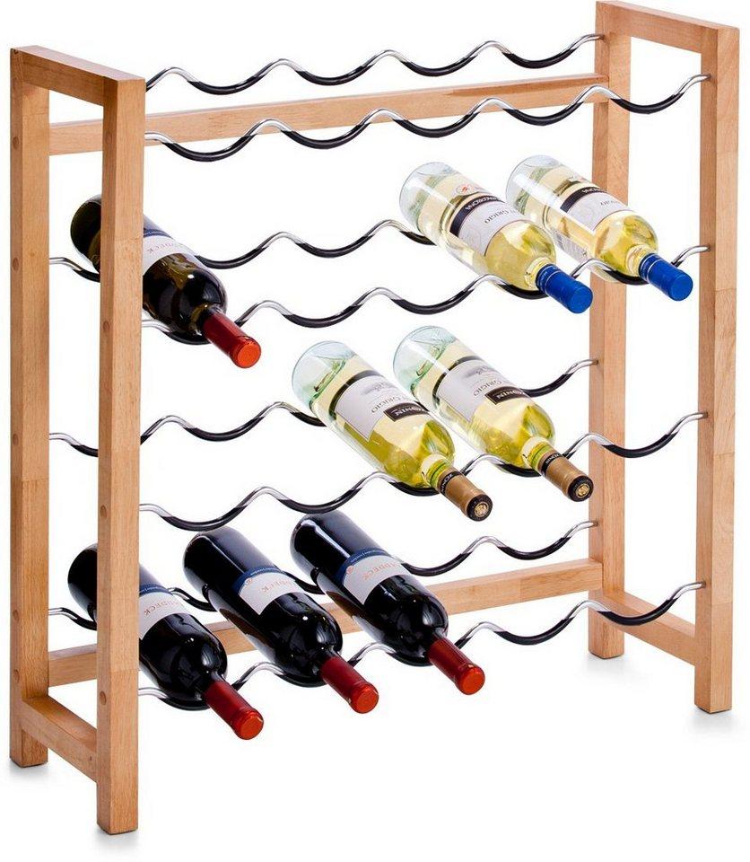 zeller present weinregal f r 20 flaschen 70 x 23 x 71 cm online kaufen otto. Black Bedroom Furniture Sets. Home Design Ideas
