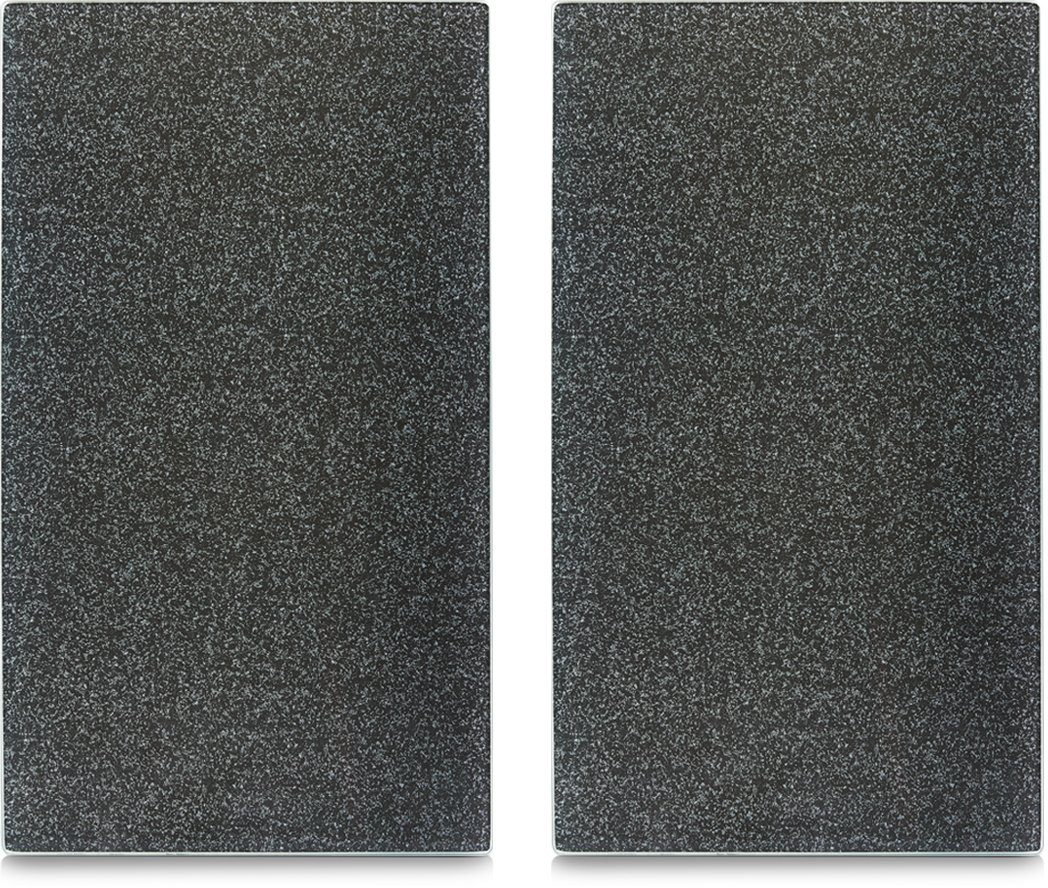Zeller Present Herdabdeck-/Schneideplatten »Granit«, anthrazit, 2-er Set, 30 x 52 cm