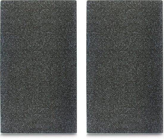 Zeller Present Schneide- und Abdeckplatte »Granit«, ESG-Sicherheitsglas, (Set, 2 tlg), mit 6 Elastikfüßen pro Platte
