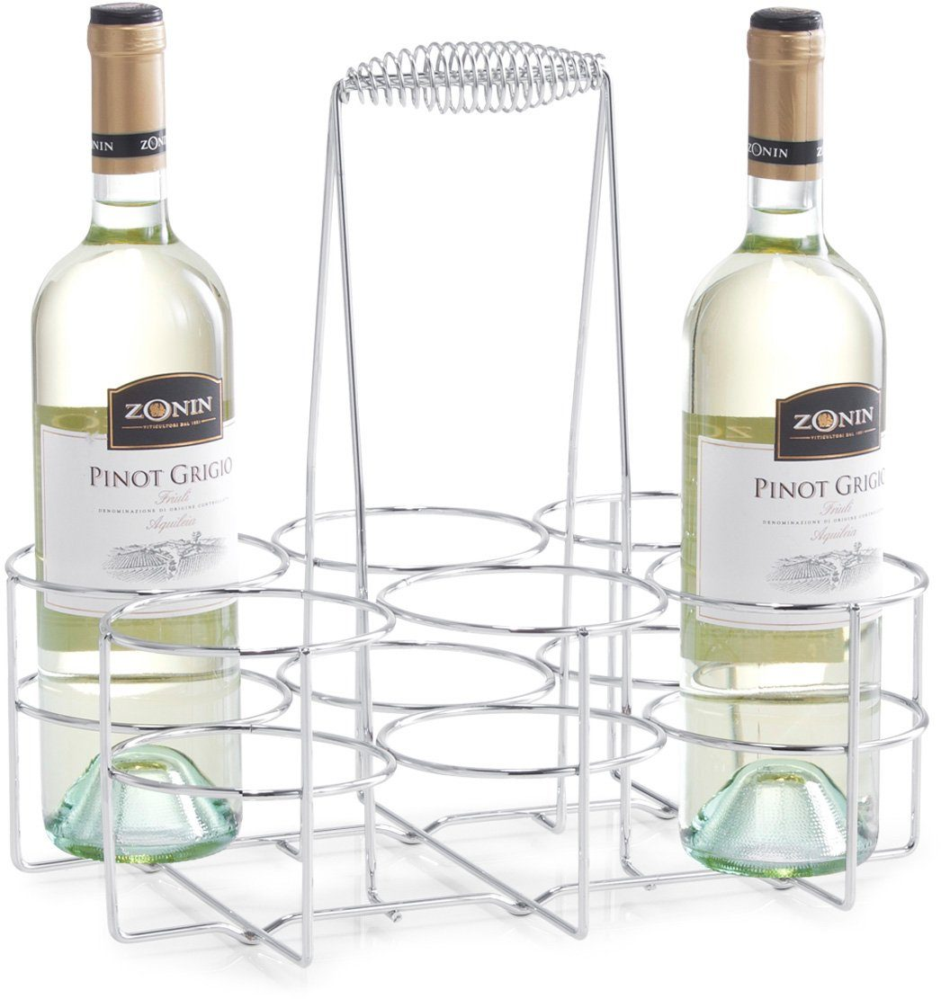 Zeller Present Flaschenhalter für 6 Flaschen, 32 x 22 x 31 cm