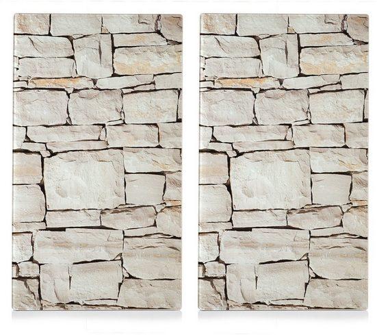 Zeller Present Schneide- und Abdeckplatte »Stone«, ESG-Sicherheitsglas, (Set, 2 tlg), Elastikfüßen