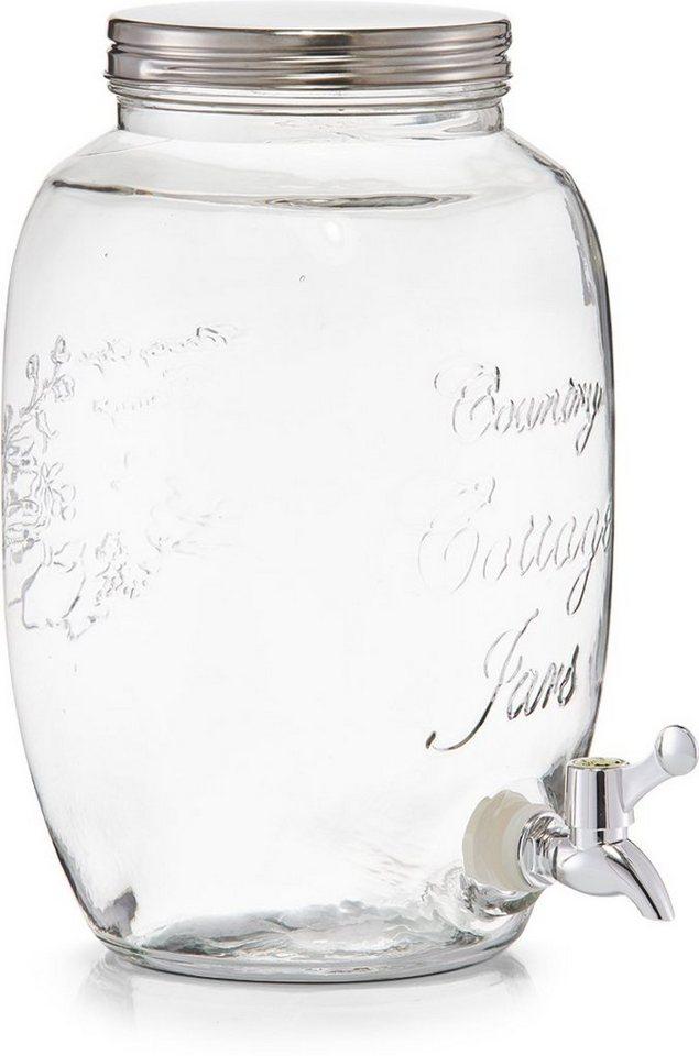 Zeller Present Getränkespender Countrystyle Glas 5 Liter Online