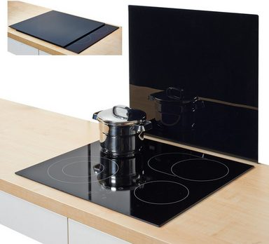 zeller present xl herdblende abdeckplatte glas schwarz 56 x 50 cm online kaufen otto. Black Bedroom Furniture Sets. Home Design Ideas