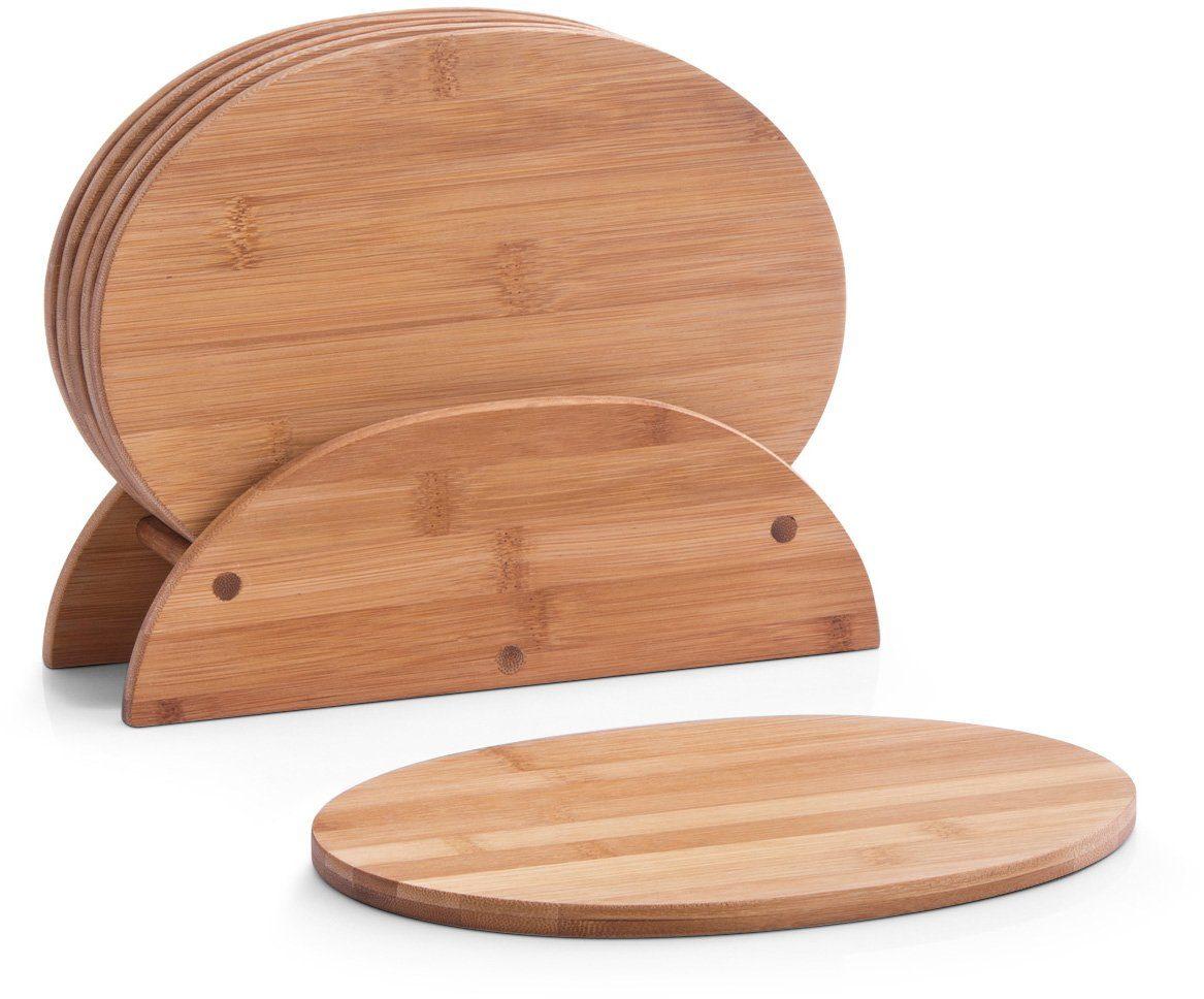 Zeller Present Brettchenständer, oval, 24 x 8 x 19 cm, »Bamboo« (7tlg.)