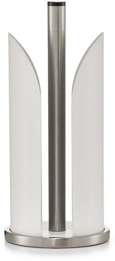 Zeller Present Küchenrollenhalter, pulverbeschichtetes Metall, Ø 15 cm