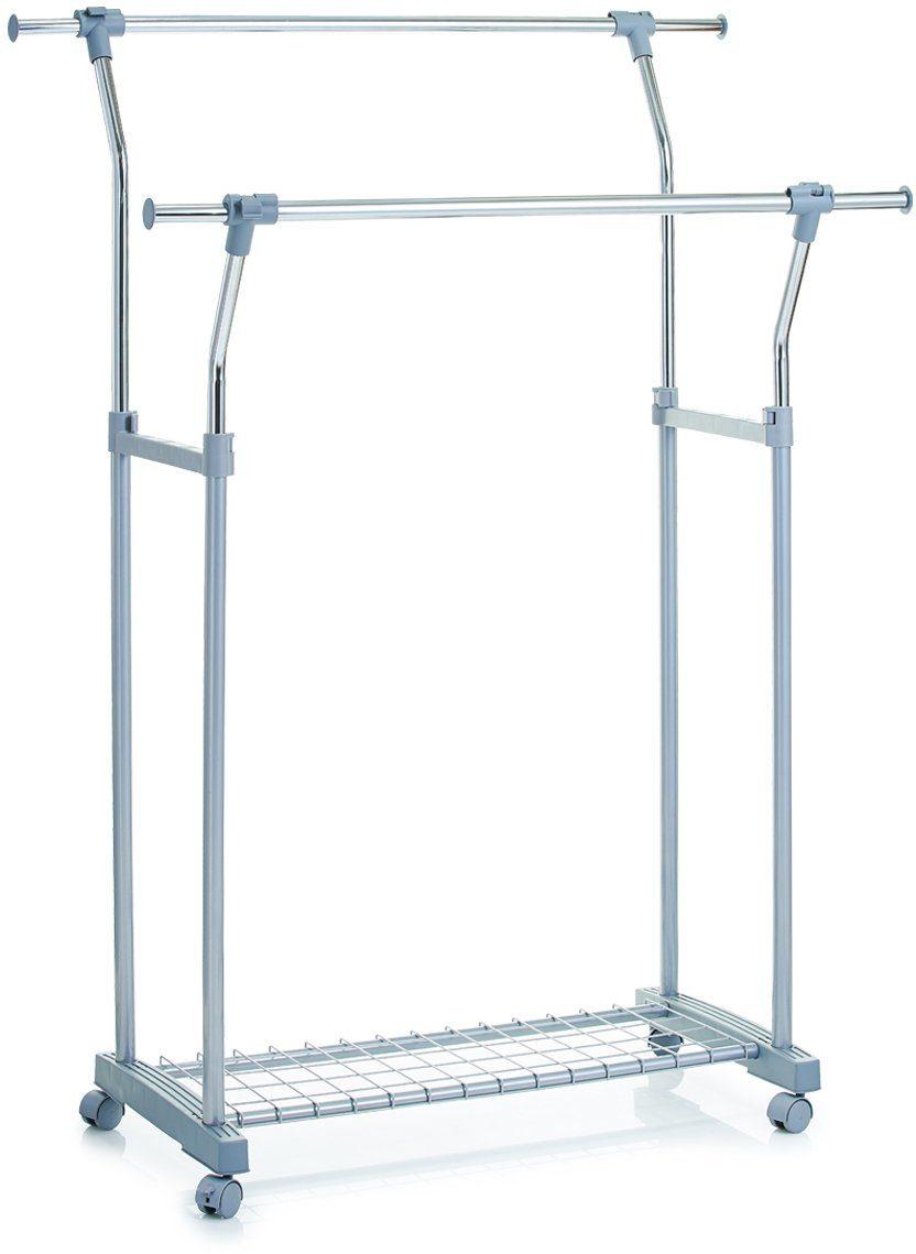 Zeller Present Rollkleiderständer, ausziehbar und höhenverstellbar, 85-110 x 51 x 114-161 cm
