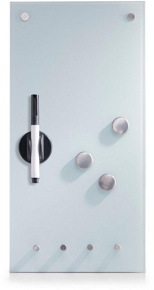 zeller present memoboard mit haken glas 20x40 cm otto. Black Bedroom Furniture Sets. Home Design Ideas