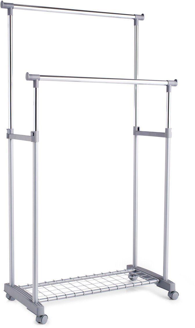 Zeller Present Rollkleiderständer, höhenverstellbar, 83 x 43 x 93,5-170 cm