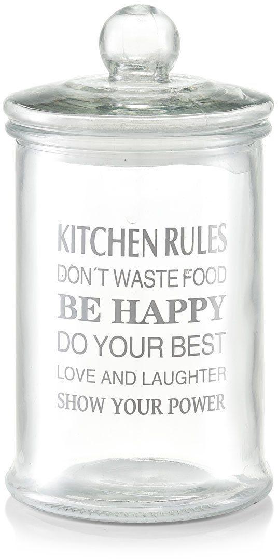 Zeller Present Vorratsglas, 2400 ml, »Kitchen Rules«