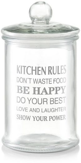Zeller Present Vorratsglas »Kitchen Rules«, Glas